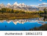 grand tetons reflection | Shutterstock . vector #180611372