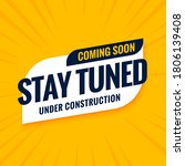 coming soon stay tuned under... | Shutterstock .eps vector #1806139408
