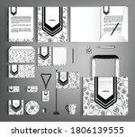 white corporate identity... | Shutterstock .eps vector #1806139555