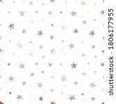 stars. rose gold foil. pink... | Shutterstock .eps vector #1806177955