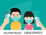 hands holding infrared...   Shutterstock .eps vector #1806184855