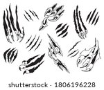 set of animal claws. collection ... | Shutterstock .eps vector #1806196228