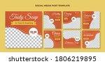 tasty soup social media post... | Shutterstock .eps vector #1806219895