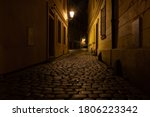 Street Lights And Cobblestones ...