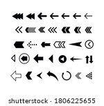 set of black arrows. collection ... | Shutterstock .eps vector #1806225655