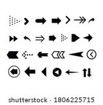 set of black arrows. collection ... | Shutterstock .eps vector #1806225715