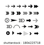 set of black arrows. collection ... | Shutterstock .eps vector #1806225718