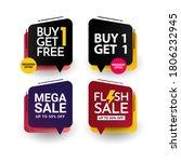 buy 1 get 1 free premium vector ...   Shutterstock .eps vector #1806232945