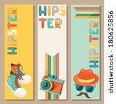 hipster style vertical banners. | Shutterstock .eps vector #180625856