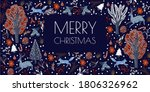 christmas cards with rustic ... | Shutterstock .eps vector #1806326962