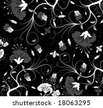 abstract floral pattern with...