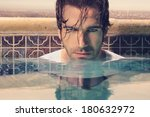 close up portrait of a handsome ... | Shutterstock . vector #180632972