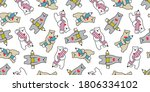 bear seamless pattern vector... | Shutterstock .eps vector #1806334102