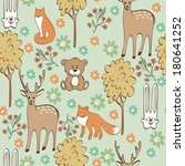 children seamless pattern with... | Shutterstock .eps vector #180641252
