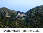 Monestary Simonopetra On Mount...