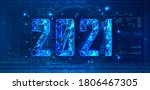 modern poster 2021 with numbers ... | Shutterstock .eps vector #1806467305