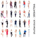 collection of different women... | Shutterstock . vector #180647066