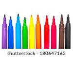 pens in colors like a rainbow ...   Shutterstock . vector #180647162