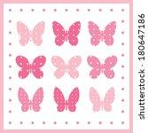 butterfly vector illustration... | Shutterstock .eps vector #180647186