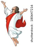 miracles of jesus. ascension.... | Shutterstock .eps vector #180647216