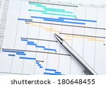 project management with gantt... | Shutterstock . vector #180648455