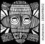 ethnic tribal mask. traditional ... | Shutterstock .eps vector #1806498652