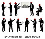 engineers with hard hat... | Shutterstock .eps vector #180650435