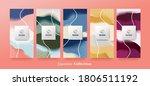 vector set packaging abstract... | Shutterstock .eps vector #1806511192