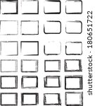 grunge borders  | Shutterstock .eps vector #180651722