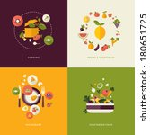 set of flat design concept... | Shutterstock .eps vector #180651725