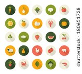 set of flat design icons for... | Shutterstock .eps vector #180651728