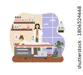 massage therapist  female... | Shutterstock .eps vector #1806524668
