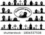 Set Of Spooky Halloween...