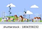 cellular towers in city... | Shutterstock .eps vector #1806558232