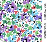 bright floral seamless pattern. ... | Shutterstock .eps vector #1806567958