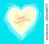 heart shape island cartoon... | Shutterstock .eps vector #1806568075