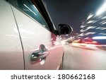 car driving fast down in the... | Shutterstock . vector #180662168