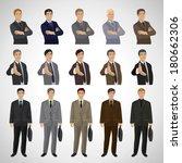 business men   isolated on gray ...   Shutterstock .eps vector #180662306