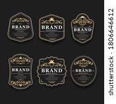 luxury golden and black premium ... | Shutterstock .eps vector #1806646612