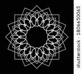 design monochrome decorative... | Shutterstock .eps vector #1806650065
