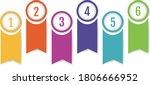 infographic banner ribbon... | Shutterstock .eps vector #1806666952
