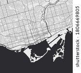Vector Map Of Toronto. Street...