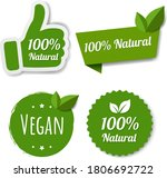 natural green labels set with...   Shutterstock .eps vector #1806692722