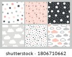 cute pattern set with clouds ... | Shutterstock .eps vector #1806710662