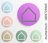 centered house badge color set. ...