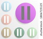pause badge color set. simple...