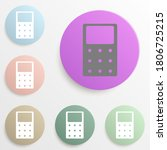 calculator badge color set....