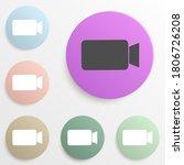 video camera sign badge color...