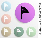 flag badge color set. simple...