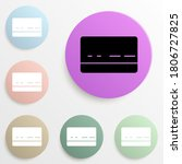 bank card badge color set....